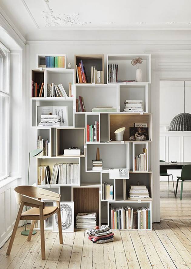 Love This Bohemian Bookshelf Designed To Look Like Its Made From Crates