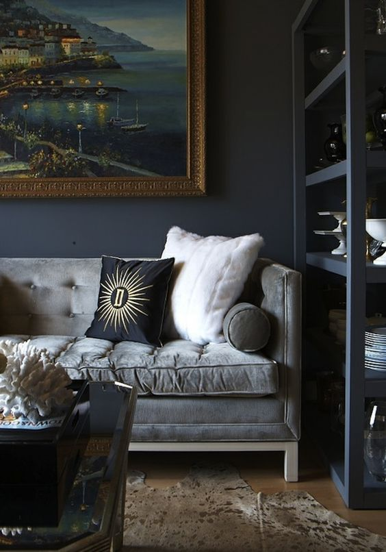 Different-shades-of-grey-living-room-with-cozy-velvet-sofa