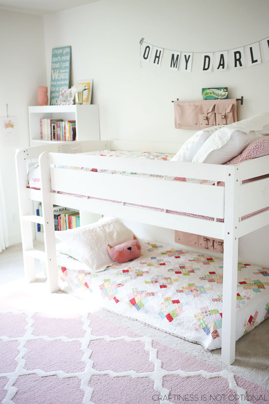 Trend So this is where my head is at u it us a small bunk bed with one of the beds flush to the ground it feels safer and less imposing in an already