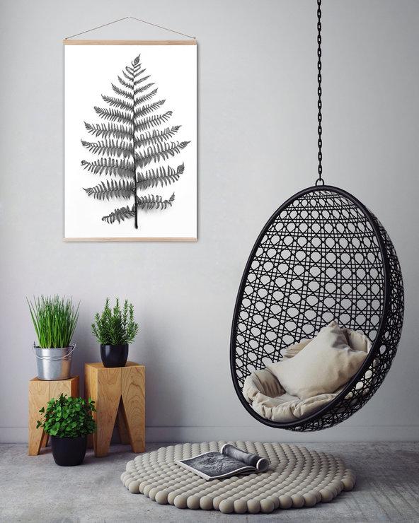 1-hangingchair60x90cmprinthangerfern