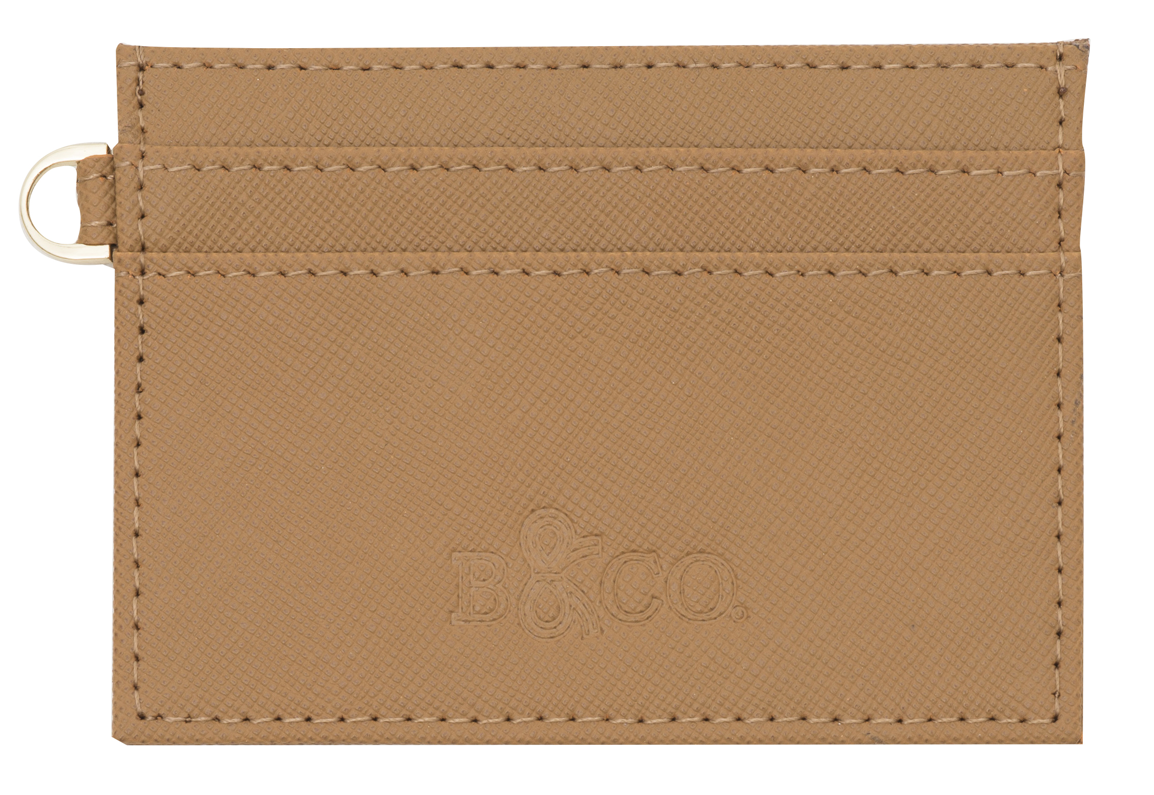 Saffiano Leather Card Holder - Tan